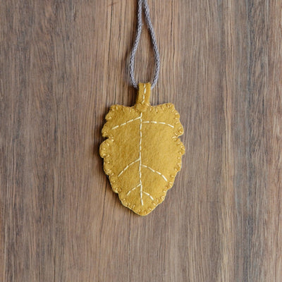 Gnome Baby Leaf Necklace