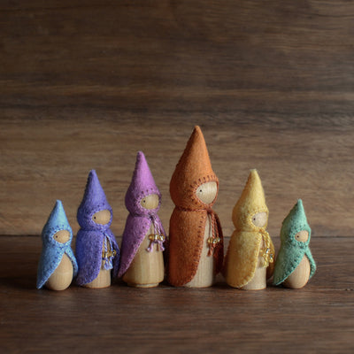 Pastel Rainbow Gnome Sets