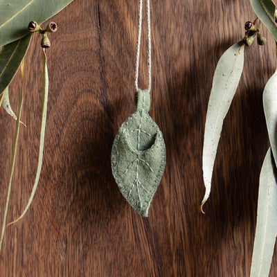 Silver Eucalypt Ornament - Choose Baby Colour
