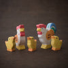 Holztiger family of wooden hand painted chickens