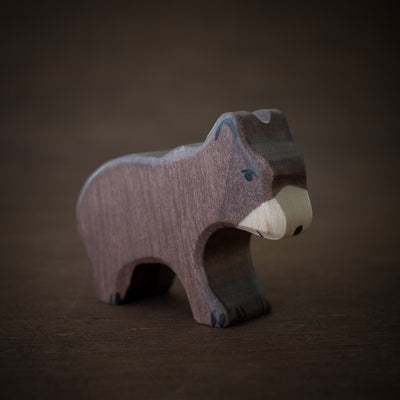 wooden brown bear animal toy by holztiger