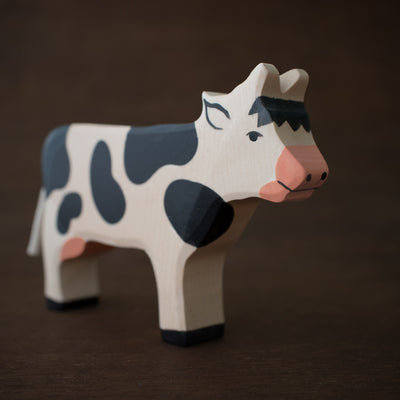 holztiger wooden cow toy