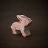 wooden baby hare toy animal from Holztiger handmade and painted brown and white