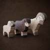 Holztiger wooden sheep and ram toys standing together