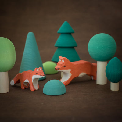 holztiger wooden foxes with Raduga Grez trees