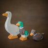 holztiger wooden goose toy with ducks