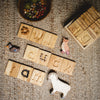 Toys education wooden alphabet shown with Holztiger animals