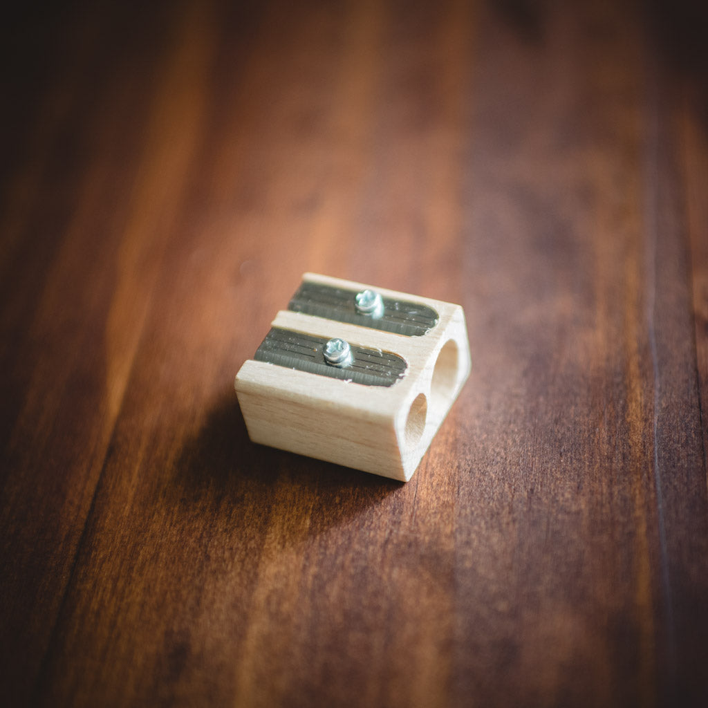 Twin hole Lyra pencil sharpener