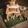 magic wood tree house with sweet elm dolls and holztiger animals
