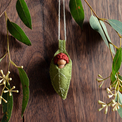Green Eucalypt Necklace - Baby colour of your choice