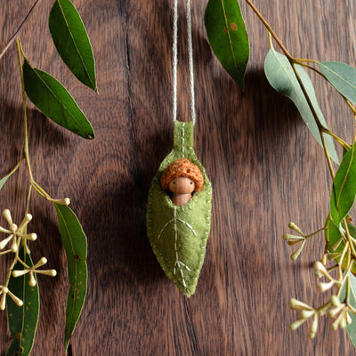 Green Eucalypt Ornament - Choose Baby Colour