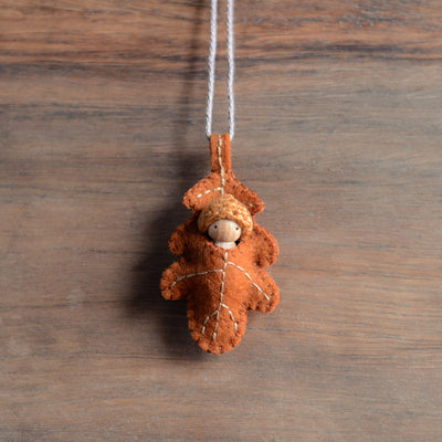 Oak Leaf Baby Ornament