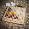 qtoys mathematics numeracy geoboard with felt balls demonstrating counting