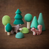 Raduga Grez wooden forest tree set with Holztiger squirrel and bear cub animals