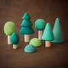 Raduga Grez wooden forest tree set in green