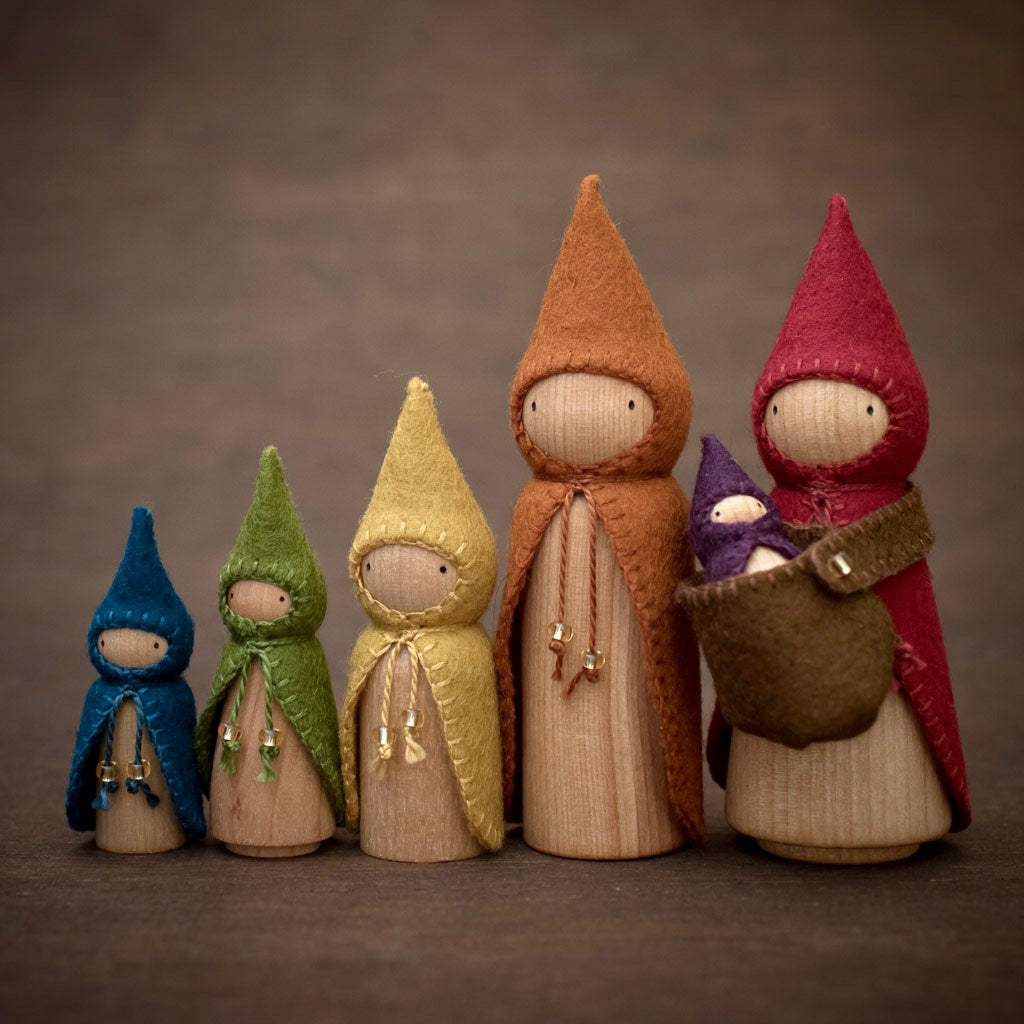Rainbow Gnomes Build a Set