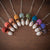 Sweet Elm Steiner Waldorf Acorn doll necklaces for open-ended play in rainbow colours