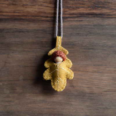 Poppet Baby Oak Leaf Necklace