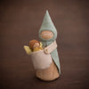 Sweet Elm Australian wooden fairy baby in carrier with gnomes mother