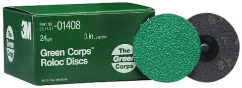 3M 1408 Green Corps Roloc Disc 25 Ds, Grinding, Rust, Weld