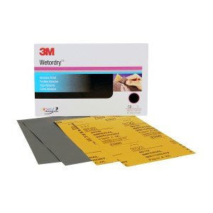 3M™ Wetordry™ Sheet, P500 Grit, 9 x 11 inch, 02037