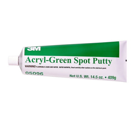 3M 05096 Acryl-Green Spot Putty Tube - 14.5 oz.