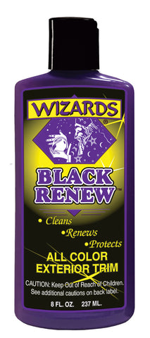 ALL COLOR EXTERIOR TRIM TREATMENT WIZARDS-BLACK RENEW - 8 oz