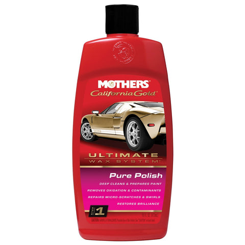 Mothers 07100 California Gold Pure Polish (Ultimate Wax System/Step 1) - 16 oz
