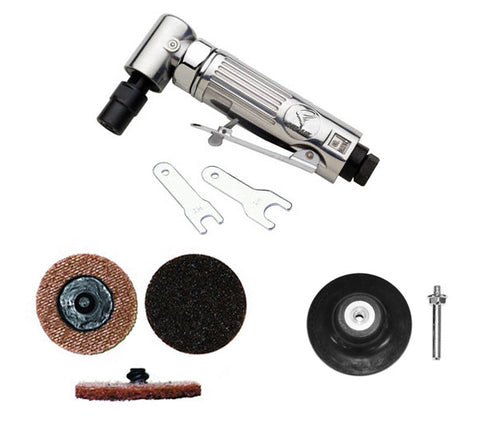"ATD-21310 1/4"" Mini Angle Air Die Grinder/Surface Conditioning Kit"