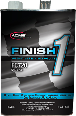 Finish 1™ Ultimate Overall Clearcoat, FC720G, 1GAL