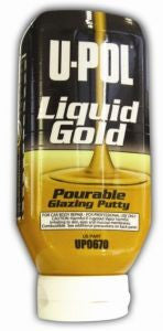 U-POL 670 Liquid Gold (TM), Pourable Glazing Putty