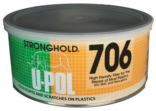 U-Pol Stronghold High Density Filler for The Repair of Most Plastics, 600 ml, UP706