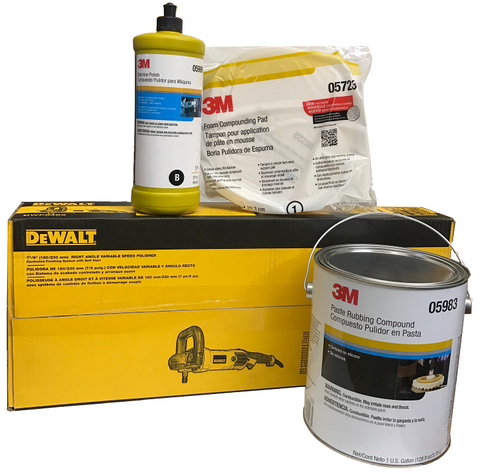 High Quality Detailing Kit Includes Polisher, Compound, Shine Master, and Buffing Pad