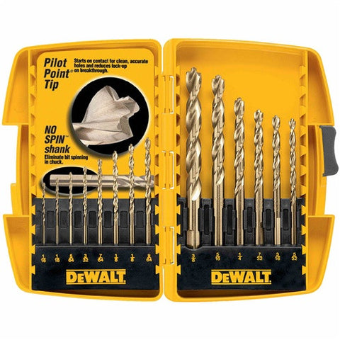 DW1169 14 PC. PILOT POINT® DRILL BIT SET