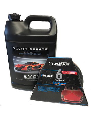 "Ocean Breeze Synthetic Nano Ceramic Cleaner with AUTOSCRUB 6"" Pad"