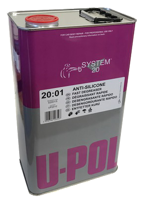 U-Pol Tin Fast Solvent Based Degreaser, 5L, UP2012