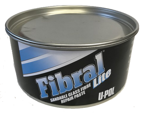U-POL Fibral Sandable Glass Fibre Repair Paste, UPO766, QT