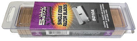 "5 Star Xtreme Single Edge Razor Blades .009"" Thick, 5010A"