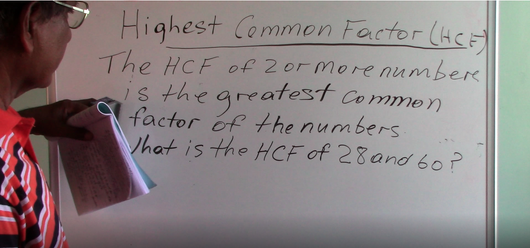 Grade 6 & 7 - Highest Common Factor (Introduction)