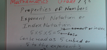 Grade 7 & 8 - Properties of Numbers