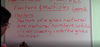 Grade 6 & 7 - Factors (Introduction)