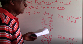 Grade 6 & 7 - Prime Factorization of Composite Numbers