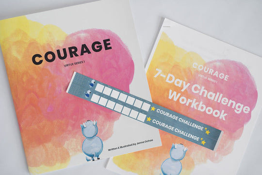 Courage book and PDF workbook - Virtue Series 1
