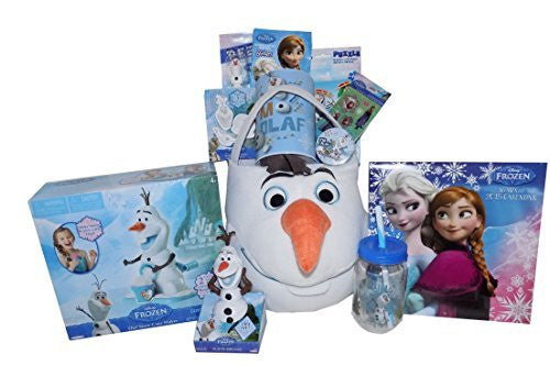 The Disney Frozen Olaf Jumbo Ultimate 20 Inch Gift Basket with Olaf Snow Cone Maker and More! - Perfect for Easter, Christmas, Birthdays, Get Well, or Other Occasion!