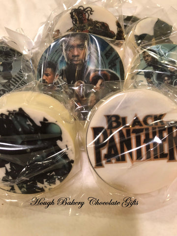 Black Panther Chocolate Covered Oreo Cookies