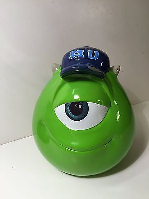 Disney Monsters University Mike Wazowski Ceramic Piggy Bank