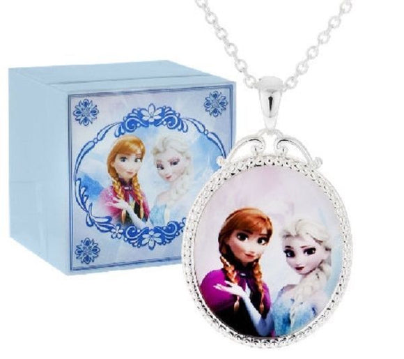 Disney Frozen Anna & Elsa FROZEN Music Box & Necklace Set