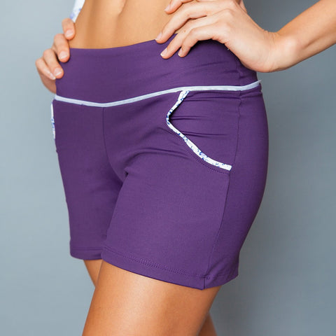 Denise Cronwall Lavender Field Solid Short