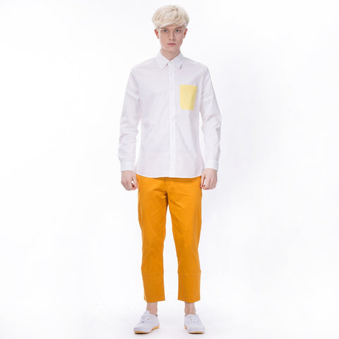 Controlled Commodity The Contrast Pocket Shirt in White