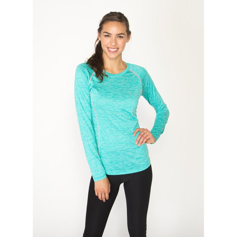 RBX Active Stratus Long Sleeve Lightweight Crew Neck Base Layer Running Tee Shirt